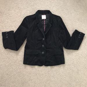 Old Navy Black 3 Button Corduroy Jacket Blazer